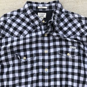 Lucky Brand Classic fit shirt with western style L